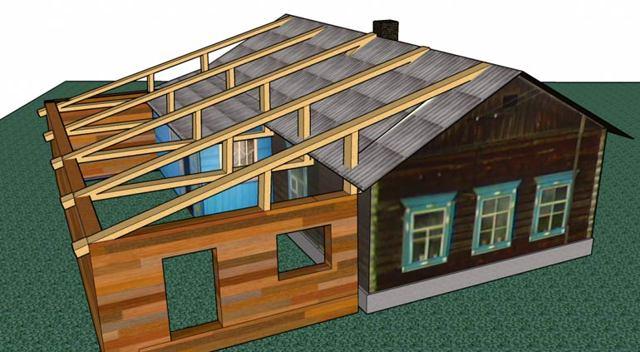 Как сделать пристройку к двухквартирному дому?