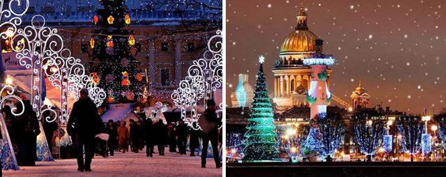 Куда все едут встречать Новый год в России?