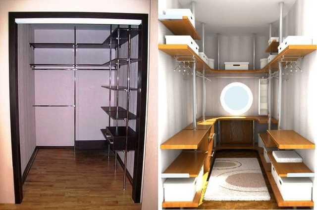 Кладовая и гардеробная в квартире