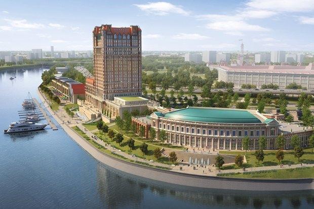 В Москве начал строиться парк развлечений в Нагатинской пойме