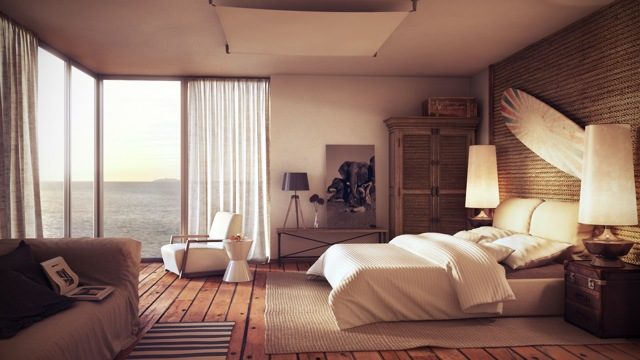 Интерьер спальни как в дорогом отеле