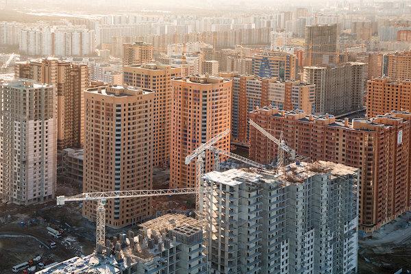 В январе 2017 года в России построили на 22% меньше жилья, чем год назад
