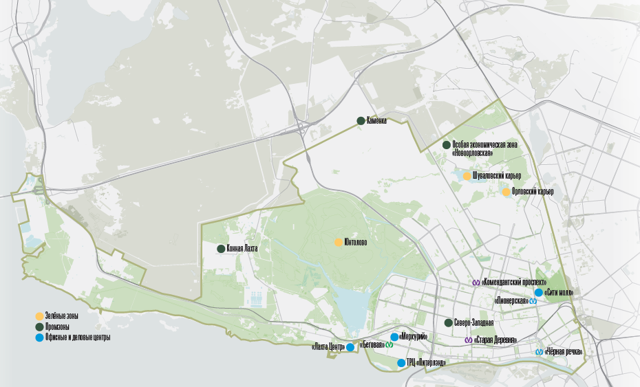 Власти Петербурга рассмотрели два проекта застройки в Приморском районе